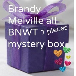 Brandy Melville 7 brand new with tags mystery box